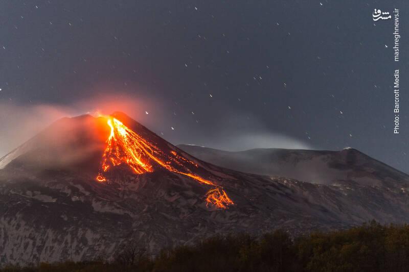 فعالیت یک آتشفشان دیگر، این بار  اتنا در ایتالیا