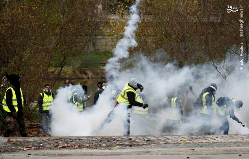 تداوم جنبش جلیقهزردها در نانت فرانسه