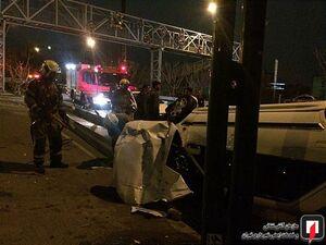 عکس/ واژگونی خودروی سواری در بزرگراه کردستان
