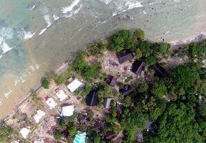 تصاویر هوایی از خسارات سونامی در اندونزی