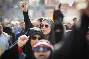 راهپیمایی 9 دی در میدان امام حسین تهران
