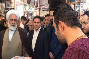 عکس/ بازدید سرزده دادستان کل کشور از بازار تهران