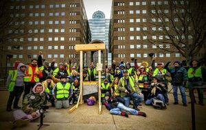 عکس/ تجمع اعتراضی جلیقه زردها در تگزاس