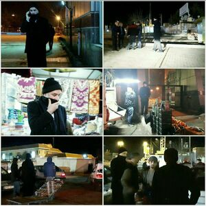 حضور امام جمعه بیله سوار  اردبیل با لباس مبدل در گمرک