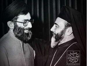 دیدار اسقف کاتولیک بیتالمقدس با آیتالله خامنهای +عکس