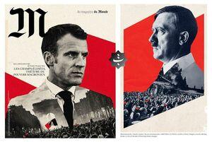 عکس/ «ماکرون» میبینید یا «هیتلر»؟!