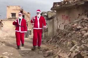 فیلم/ بابانوئل در خرابههای موصل