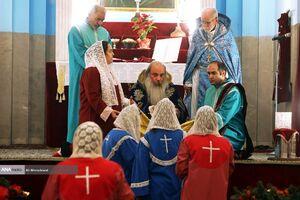 مراسم سال نو میلادی در کلیسای گریگور مقدس