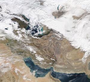 تصویر ناسا از وضعیت جوی امروز ایران