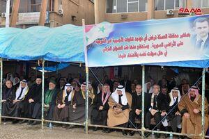 فیلم/ شادی اهالی شهر حسکه از حمایت ارتش سوریه