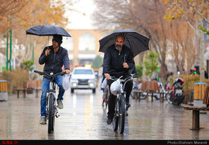 حال وهوای باران زمستانی اصفهان