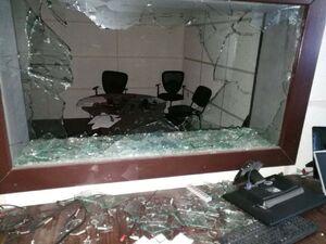 حمله به مقر رادیو و تلویزیون غزه +فیلم