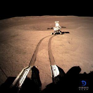 عکس/ کاوشگر چینی روی کره ماه