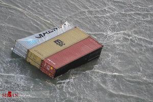 سقوط کانتیترهای موادخطرناک به دریا