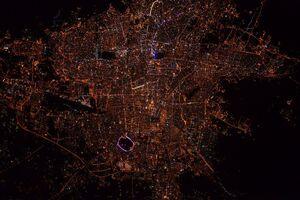 عکس جدید فضایی از تهران