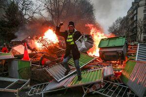 عکس/ شورش جلیقه زردها در اولین شنبه سال2019
