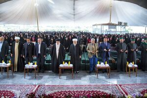 عکس/ مراسم قدردانی آستان اباالفضل(ع) از هزار دانشجوی محجبه