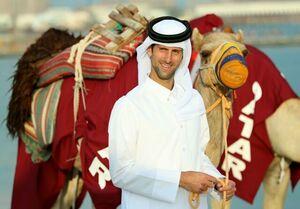 عکس/ نواک جوکوویچ در قطر به این شکل درآمد