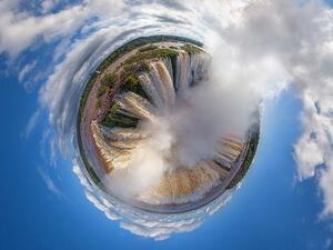تصویر360درجه هوایی از آبشار ایگوازو