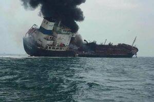 یک نفتکش در آبهای هنگ کنگ منفجر شد