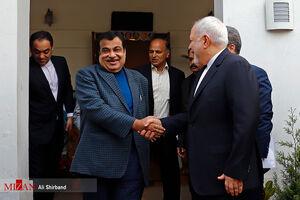 عکس/ دیدار ظریف با وزیر حمل و نقل هند