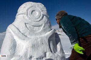 عکس/ جشنواره برف بازی در خلخال