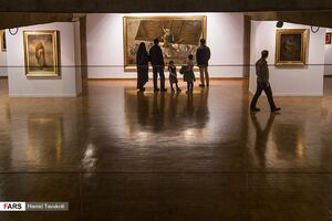 عکس/ نمایشگاه  آثار نقاشی حسن روح الامین