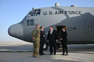 عکس/ سفر وزیر خارجه آمریکا به عراق