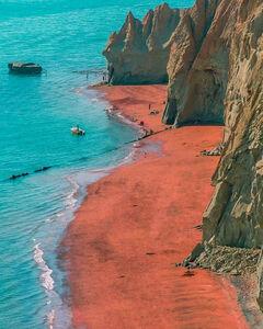 عکس/ ساحلی زیبا در خلیج فارس