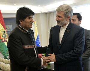 توییت رئیس جمهور بولیوی پس از دیدار با امیر حاتمی