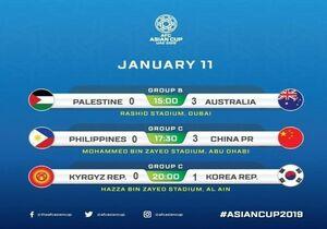 روز هفتم جام ملتهای آسیا