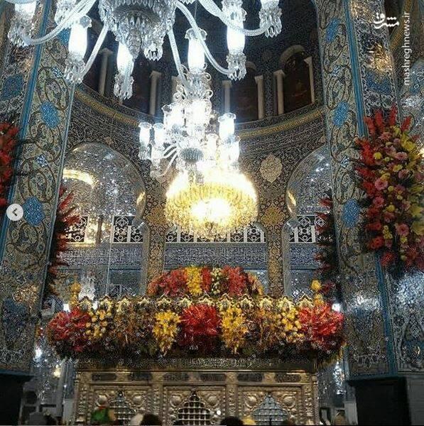 عکس/ گلآرایی حرم حضرت زینب(س)