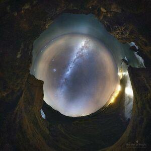 ثبت عکسی هنرمندانه از آسمان
