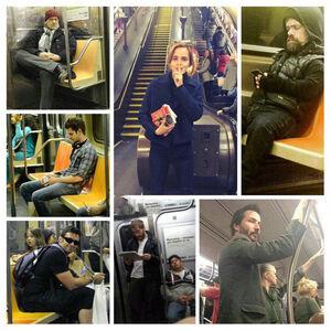 عکس/ سلبریتیها در مترو!