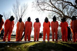 عکس/ تجمع اعتراضی به فعالیت زندان گوانتانامو