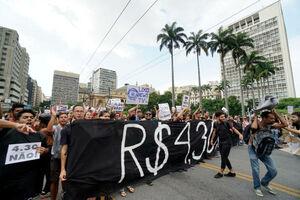 تظاهرات علیه افزایش قیمت حمل و نقل عمومی در برزیل