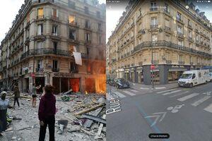 """تصاویر """"قبل و بعد"""" از ساختمانی که در پاریس منفجر شد"""