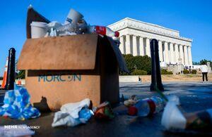 عکس/ عدم جمع آوری زباله ها در آمریکا