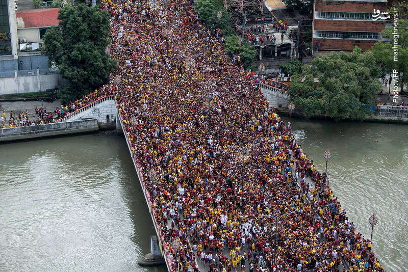 بزرگترین مراسم سالانه مذهبی در مانیل
