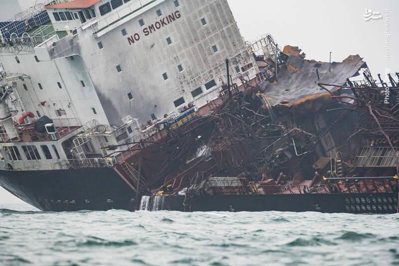 آتشگرفتن یک نفتکش در سواحل هنگکنگ به مرگ دستکم یک نفر انجامید.