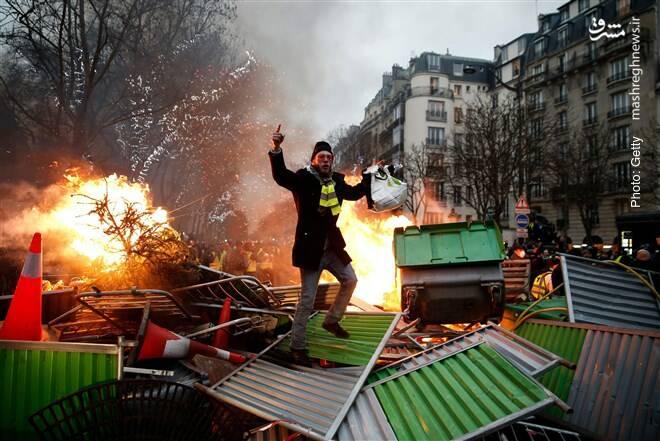 راهبندان جلیقهزردها در پاریس