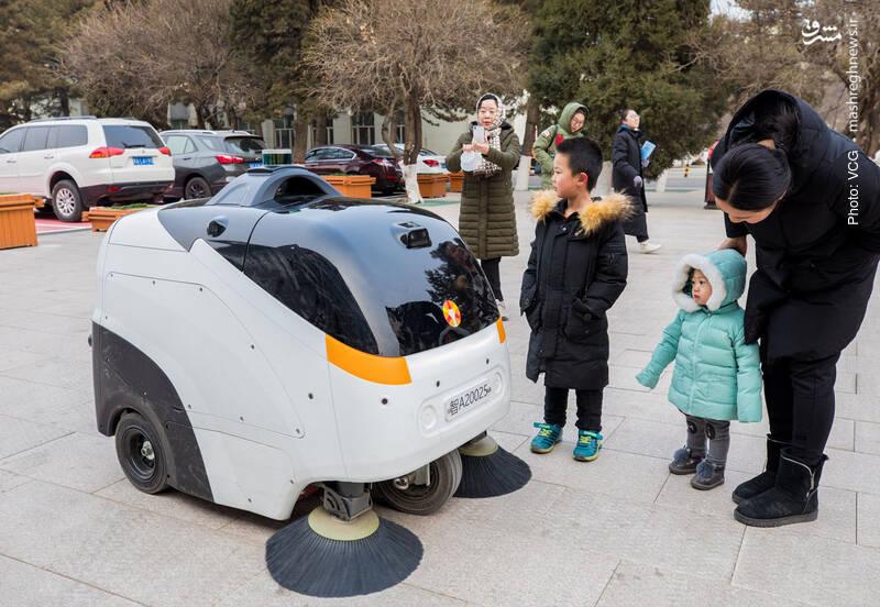 روبات نظافتچی در منطقه خودمختار مغولستان