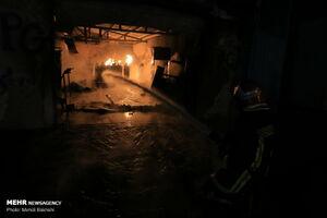 عکس/ آتش سوزی در کارگاه شارژ سیلندرهای LPG