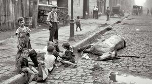 عکس/ خیابانی در نیویورک حدود ۱۱۹ سال قبل