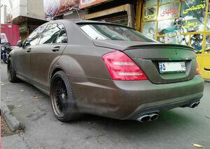 عکس/ مرسدس بنز چَرمی در تهران!