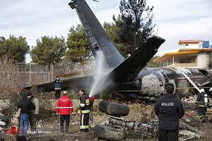 فیلم لحظه غش کردن یک زن از بستگانافراد داخل هواپیما سر صحنه سقوط هواپیما