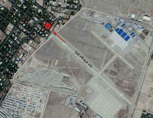 عکس هوایی از محل حادثه سقوط بوئینگ 707