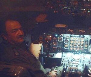عکس/ خلبان هواپیمای بوئینگ 707