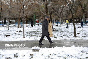 برف در قزوین
