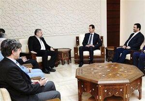 بشار اسد و هیئت ایرانی